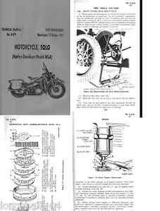 harley davidson wla military motorcycle ww2 period archive manual ebay rh ebay ie National Archives Military Navy Archives Military Records