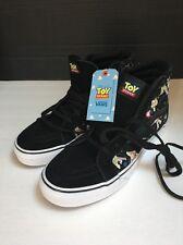 Vans SK8 Hi Toy Story Buzz Lightyear Black Men's Size 9 Women's 10.5