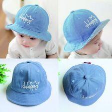 Toddler Kids Girls Boys Sun Cap Summer Outdoor Baby Sun Beach Cotton Hat 6-12M