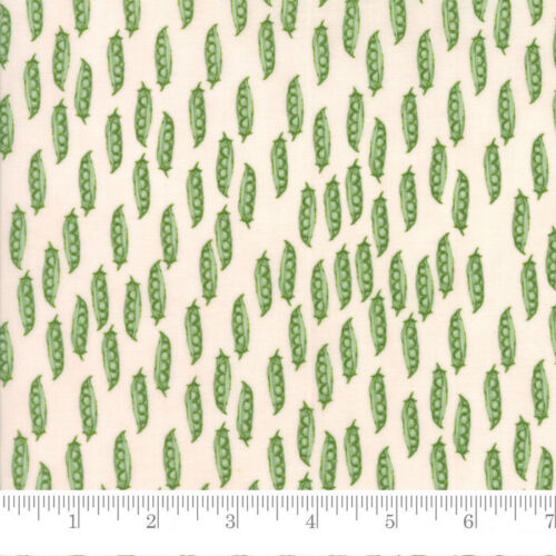 Per 1//4 Metre Moda Fabric Darling Little Dickens Peas in Pod Pink Cheeks