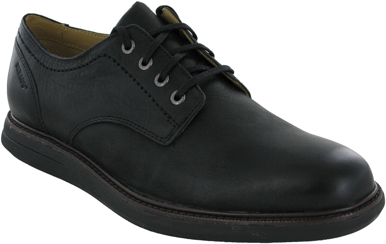 Sesaco Smyth Plain Toe en cuir noir intelligent pour homme à lacets Décontracté Formal chaussures