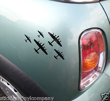 Vuelo De Avro Lancasters coche calcomanía / etiqueta adhesiva * bbmf * * Segunda Guerra Mundial * * Lancaster Bomber *