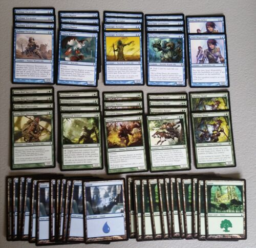 Rare cards 60 Card Deck BLUE GREEN ALLIES Ready to Play Magic MTG FTG