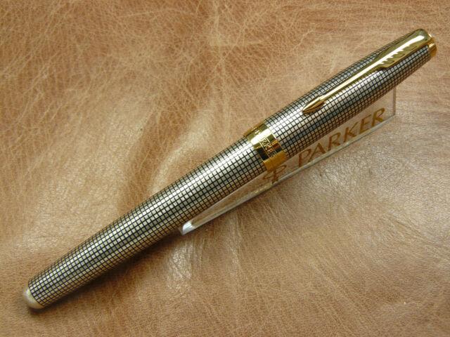 Outstanding Silver Parker Sonnet Pen High Quality Medium Nib Fountain Pen