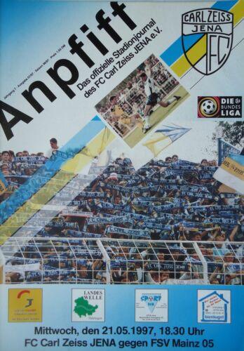 FSV Mainz Programm 1996//97 FC Carl Zeiss Jena