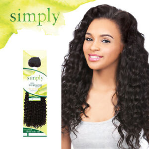 Image Is Loading Outre Simply 100 Human Hair Bundle Weave Curly