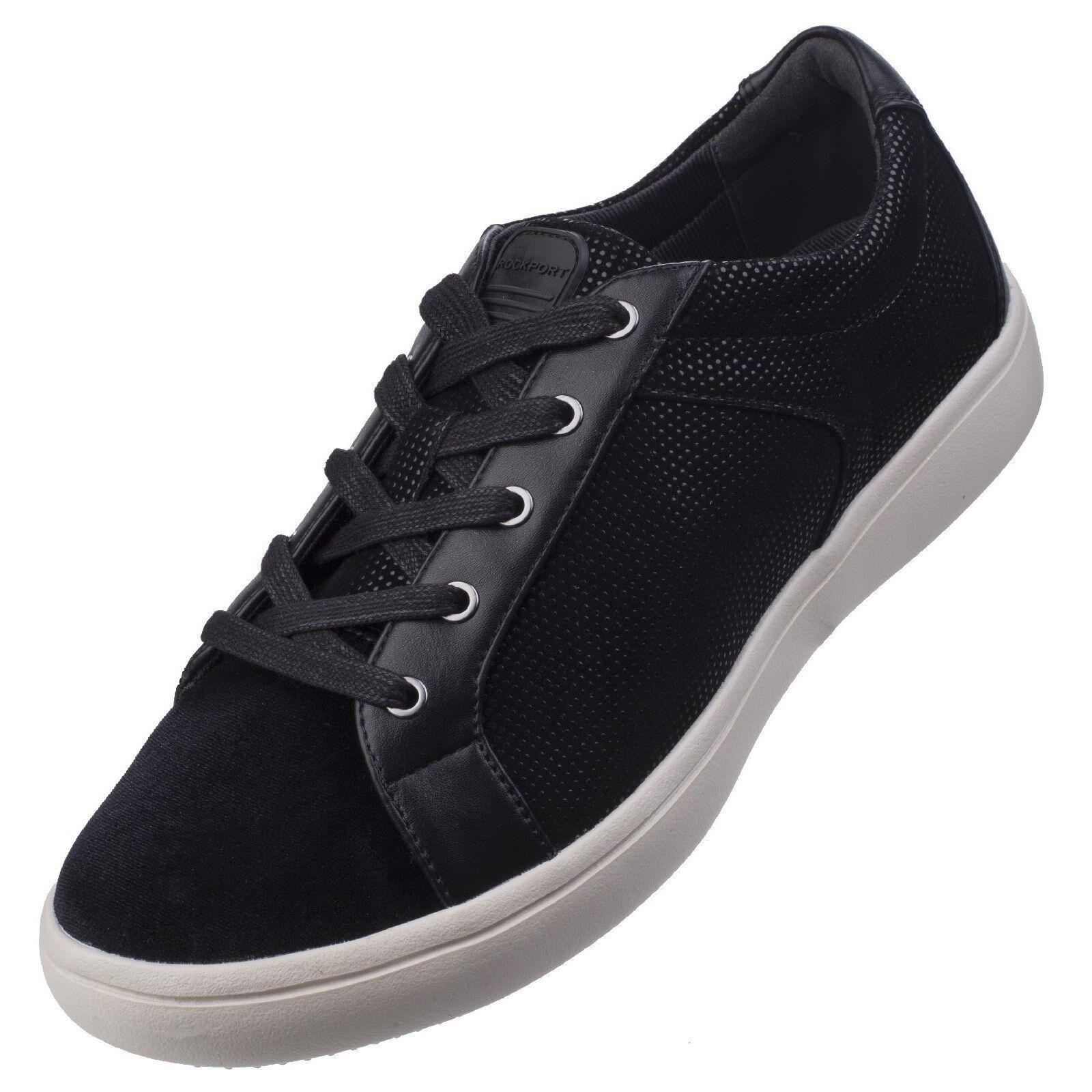 Rockport Ariell Zapatillas de Mujer Planos con Cordones Terciopelo Zapatos