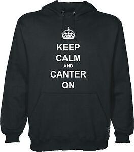 Keep calm CANTER sur sweat à capuche équitation hoody equestrian sweat à capuche s-xxl
