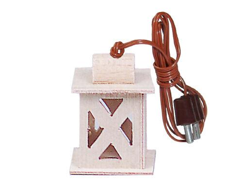 Holz-Laterne 3,5V für Krippe oder Puppenstube,Puppenhaus Kahlert 20661