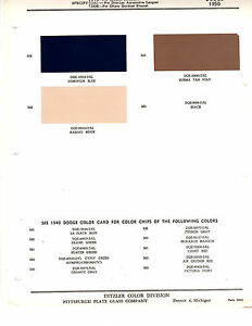 1950 DODGE WAYFARER CORONET DIPLOMAT MEADOWBROOK 50 PAINT CHIPS DITZLER 4    eBayeBay