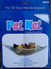 Deluxe Pet Net - Stuffed Animal & Toy Organizer - White