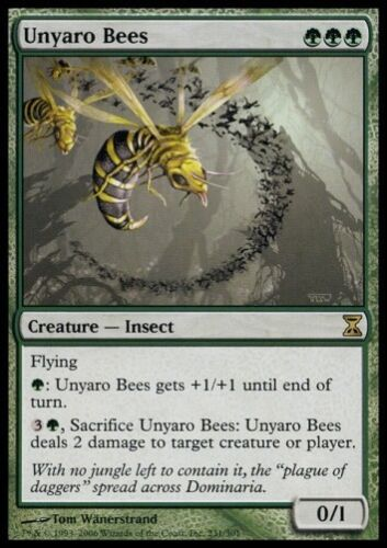 Time Spiral *Rare Fly Insect* MTG 4x UNYARO BEES