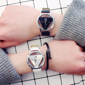 Fashion-Retro-Women-Men-Stainless-Steel-Leather-Band-Quartz-Analog-Wrist-Watch-E