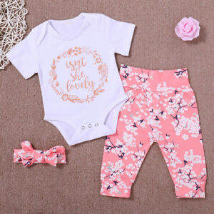 ae735f0b90686 Image is loading 3PCS-Newborn-Infant-Baby-Girl-Outfits-Clothes-Bodysuit-