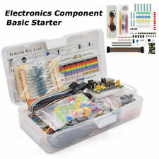 Electronics Component Basic Starter Kit Breadboard Cable Resistor Capacitor Led
