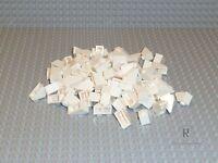 Lego® 100 Ziegel Dachsteine Weiß White 1x2 2x1 45° 3040 Neuware