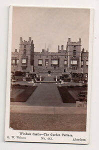 Vintage-CDV-Windsor-Castle-The-Garden-Terrace-G-W-Wilson-Photo-Aberdeen