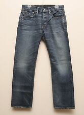NEW Ralph Lauren RRL DOUBLE RL Selvedge Low Straight Blue Denim Jeans 29 x 30
