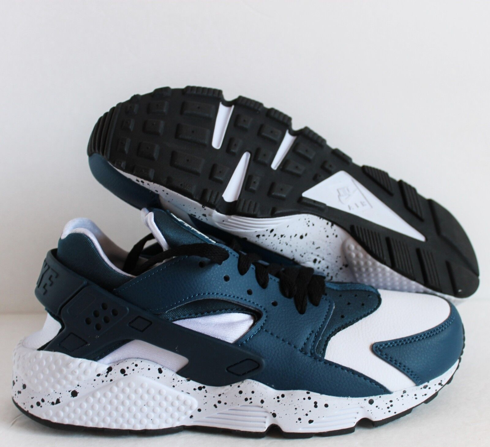 NIKE MEN SZ AIR HUARACHE PREMIUM ID BLUE-WHITE SZ MEN 8.5  [777330-992] c1029b