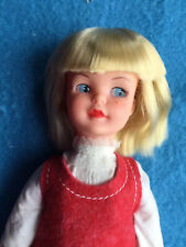Sweet MIHK Blonde Patch In 1968 Red Tights, Flannel Dress And 1970 Blouse