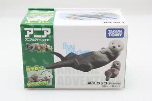 Takara Tomy ANIA Animal AS-15 Sea Otter set Mini Action Figure Educational Toys