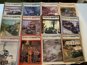 28-1990-s-Narrow-Gauge-and-Short-Line-Gazette-magazine-Lot-of-12-Railroad