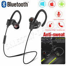 NEW Sweatproof Wireless Bluetooth 4.1 Earphones Headphones Headset Sport Gym Mic