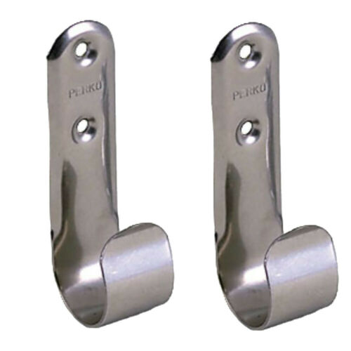 "Perko Stainless Steel Boat Hook Holders Pair Max Pole O.D 1-1//2/"" Length 3-1//2/"""