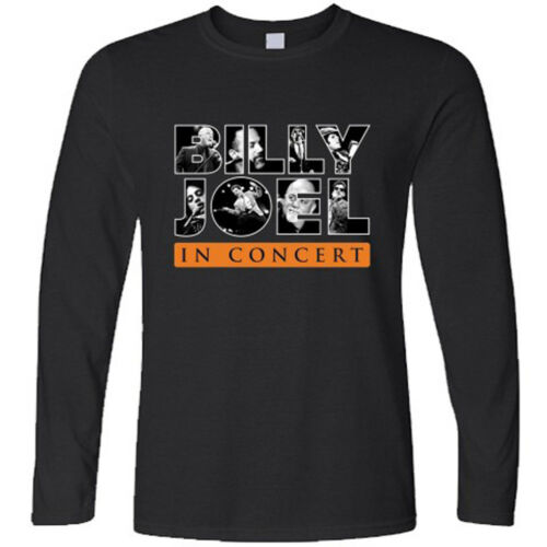 New Billy Joel In Concert Tour Logo Men/'s Long Sleeve Black T-Shirt Size S-3XL