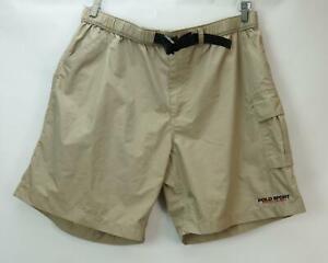 Vintage-polo-sport-mens-belt-khaki-hiking-shorts-m