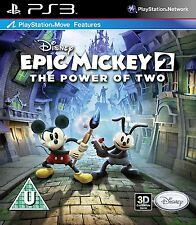 DISNEY EPIC MICKEY 2 THE POWER OF TWO PS3 BRAND NEW AND SEALED