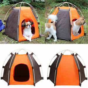 Image is loading New-Dog-or-Cat-Hexagon-Tent-House-for- & New Dog or Cat Hexagon Tent House for Indoor or Outdoor Use | eBay