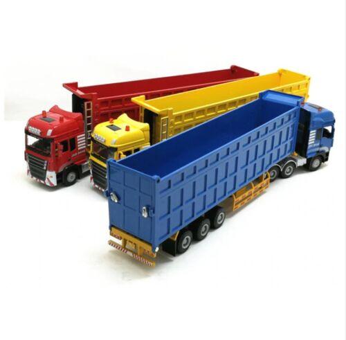 50 engineering container truck Semi-trailer dump truck metal High simitation 1