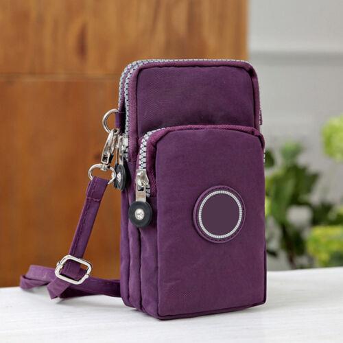 Cross-body Mobile Phone Shoulder Bag Pouch Case Belt Handbag Purse Wallet Gift