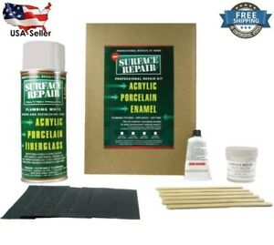 Image Is Loading 16 Oz Surface Repair Acrylic Porcelain Kit