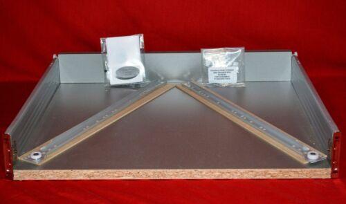 Standard Kitchen Drawer Silver 450mm D x 90mm H x 500mm W