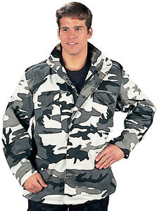 Gray-Camo-Military-M-65-Jacket-Field-Coat-Army-M65-City-Metro-Urban-Camouflage