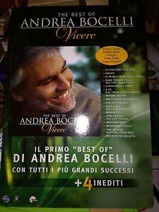 NO CD/LP - ANDREA BOCELLI - cartonato pubblicitario rigido - THE BEST VIVERE -