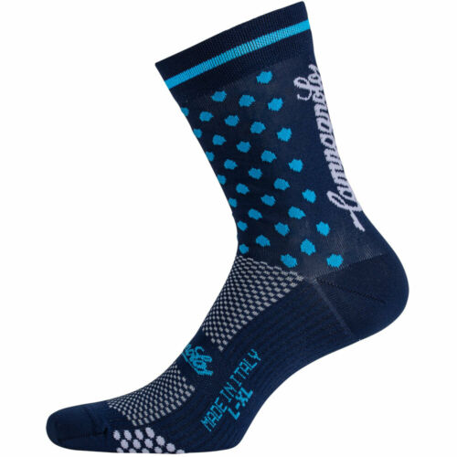 Made in Italy Dark Blue NEW Campagnolo Litech Polka Dot Road Cycling Socks