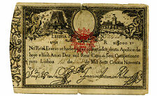 Portugal ... P-28 ... 10.000 Reis ... 1826(Old Date 1798) ... *VG*