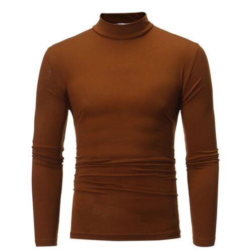 Hommes Slim Fit Chemise à manches longues Solid T SHIRT Muscle Tee Shirt Haut Décontracté Chemisier
