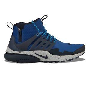 quality design 85554 efabb ... shopping image is loading 150 nike air presto mid utility gym blue  6cc26 012ab