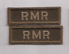 CANADIAN Armed Forces Royal Montreal Regiment OD combat shoulder titles badges
