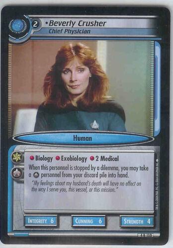 Star Trek CCG Necessary Evil 4R133 Beverly Crusher