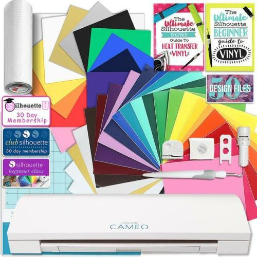 Silhouette CAMEO 3 Bluetooth Creative Bundle with 24 Oracal 651 Sheets and 12 Si