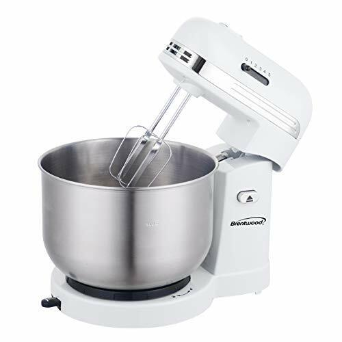 Brentwood Appliances Sm-1162w 5-speed Stand Mixer With 3-quart Stainless Steel
