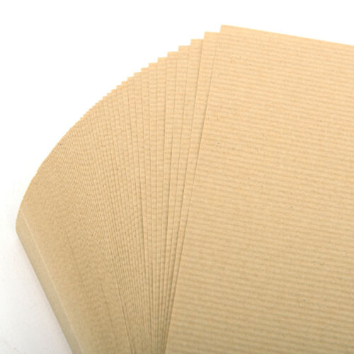 A4 Brown Kraft Ribbed Arts /& Craft Sheets 90gsm Paper