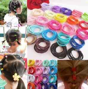 100p-mix-color-Baby-Kids-Girl-Elastic-Hair-Bands-Ponytail-Holder-Head-Rope-Ties