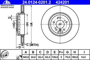 Bremsscheibe 2 Stück ATE 24.0124-0201.2