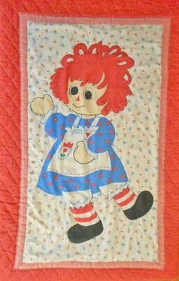 Vintage Twin Bedding Set Raggedy Ann and Andy Red Bedspread Pillow Sham Rare